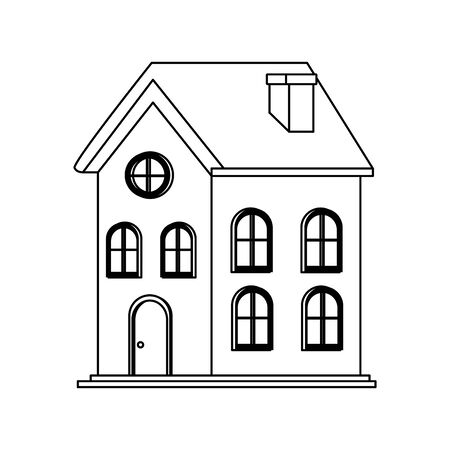 classic house icon over white background, flat design. vector illustration