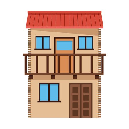 mexican traditional culture with traditional mexican house building icon cartoon vector illustration graphic design Ilustracja