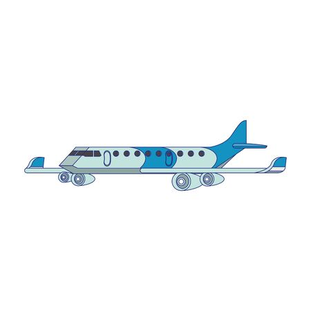 Jet airplane aircraft sideview isolated 일러스트