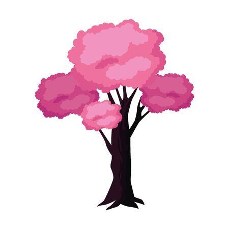 pink tree icon over white background, colorful design. vector illustration Standard-Bild - 133908571