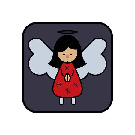 merry christmas little angel icon vector illustration design Ilustrace