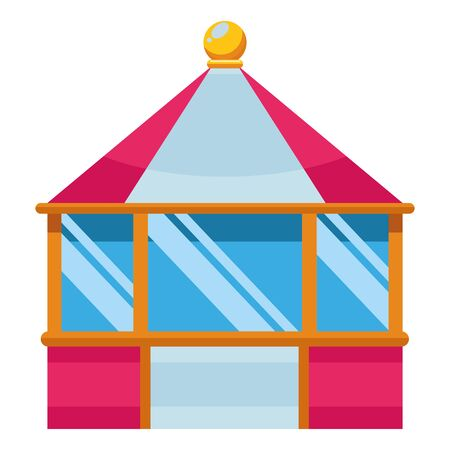 carnival tent in amusement park isolated vector illustration graphic design
