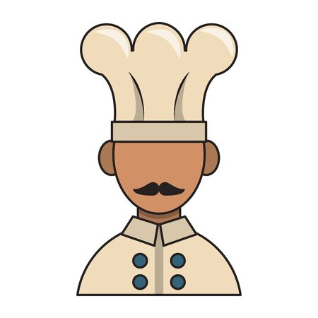 restaurant food and cuisine chef avatar profile character icon cartoons vector illustration graphic design