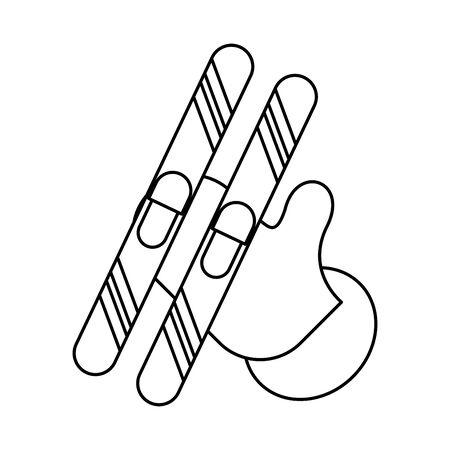 merry christmas glove decoration icon vector illustration design Çizim