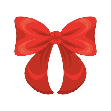 ribbon bow decorative isolated icon vector illustration design