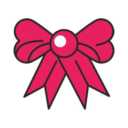 ribbon bow tie decorative icon vector illustration design Illustration