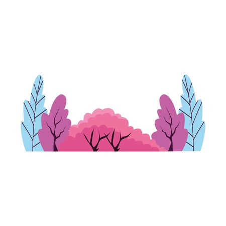 colorful bushes icon over white background, vector illustration Ilustracja