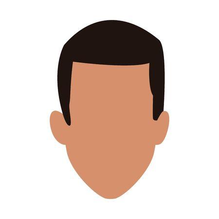 man face icon over white background, vector illustration Illusztráció