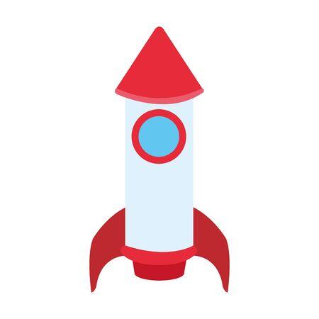 space rocket icon over white background, vector illustration Illusztráció
