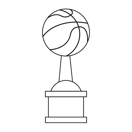 Basketball trophy cup championship vector illustration graphic design