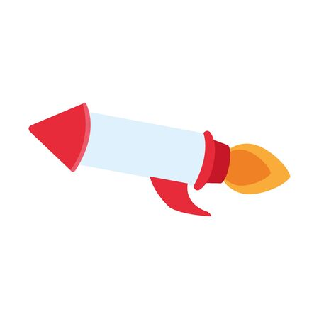 rocket space icon over white background, vector illustration