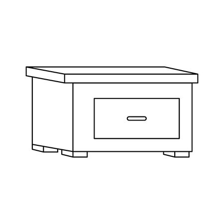 nightstand with drawer icon over white background, vector illustration Stock fotó - 133983200
