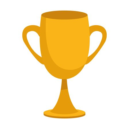 trophy cup icon over white background, vector illustration