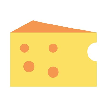 cheese slice icon cartoon vector illustration graphic design
