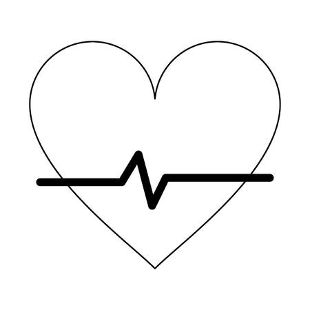 Medical heartbeat symbol isolated vector illustration graphic design Ilustrace