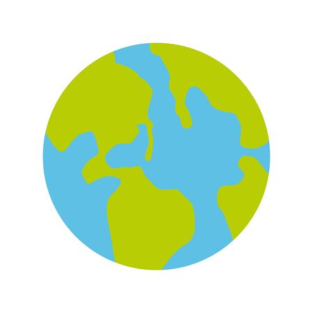 earth planet icon over white background, vector illustration