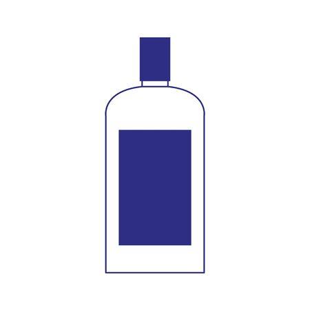 drink bottle icon over white background, vector illustration