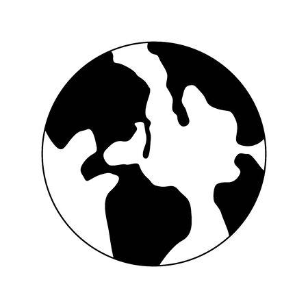 earth planet icon over white background, vector illustration 版權商用圖片 - 134040859