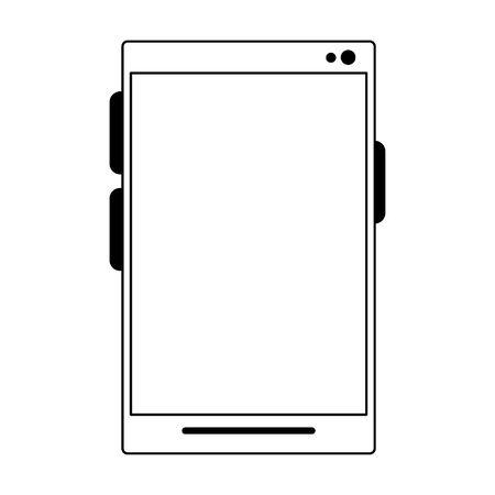 cellphone icon cartoon isolated vector illustration graphic design