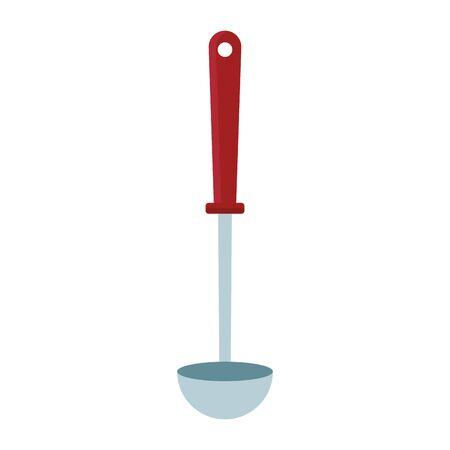 ladle icon over white background, vector illustration