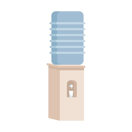 water bottle dispenser icon over white background, vector illustration Archivio Fotografico - 134046381