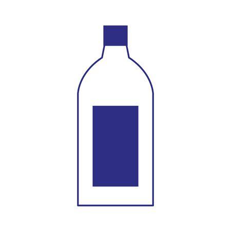 drink bottle icon over white background, flat design. vector illustration Иллюстрация