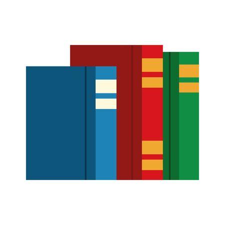 academic books icon over white background, colorful design. vector illustration Stock Illustratie