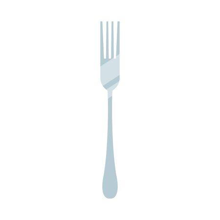fork icon, over white background, vector illustration
