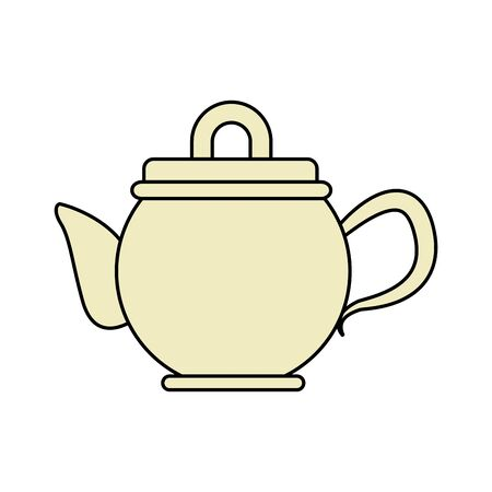 teapot icon over white background, vector illustration