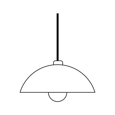 roof lamp icon over white background, vector illustration