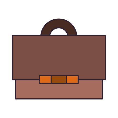 Business briefcase symbol isolated cartoon vector illustration graphic design Çizim