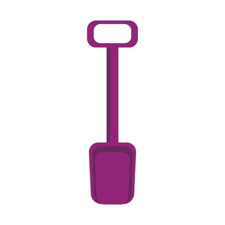 sand shovel icon over white background, vector illustration