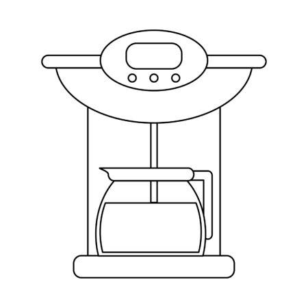 Coffee espresso machine with kettle vector illustration graphic design