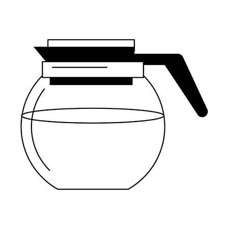 Coffee maker kettle glass vector illustration graphic design Ilustracja