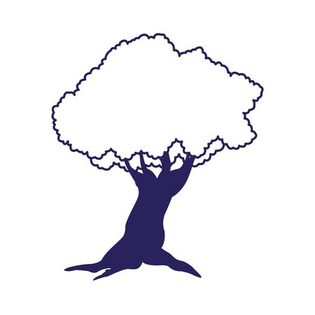 tree plant icon over white background, flat design. vector illustration 스톡 콘텐츠 - 134051246