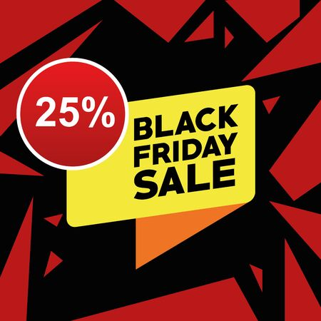 black friday sale poster with speech bubble vector illustration design Illustration