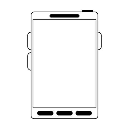 Smartphone mobile technology isolated Designe