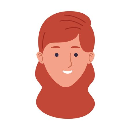 cartoon woman smiling icon over white background, vector illustration Ilustrace