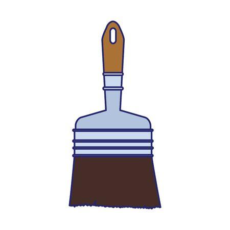 paint brush icon over white background, vector illustration Imagens - 134051742