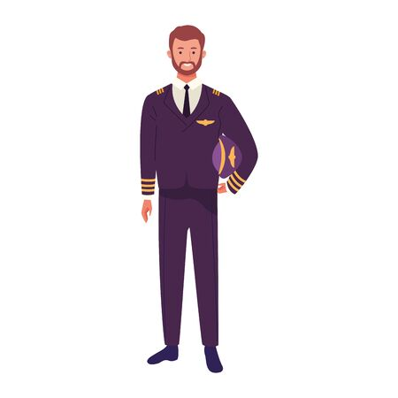 plane pilot icon over white background, vector illustration Illustration