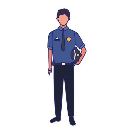 police man icon over white background, vector illustration