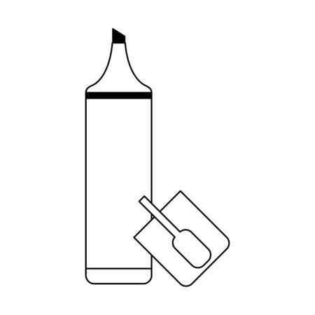 Marker office utensil isolated Designe