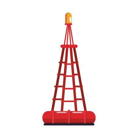 marine buoy icon over white background, vector illustration
