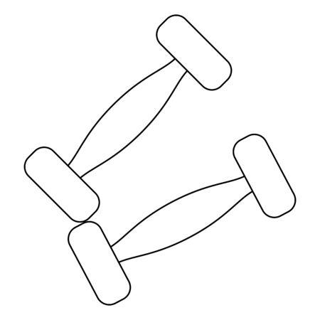 Dumbbells gym equipment isolated Designe