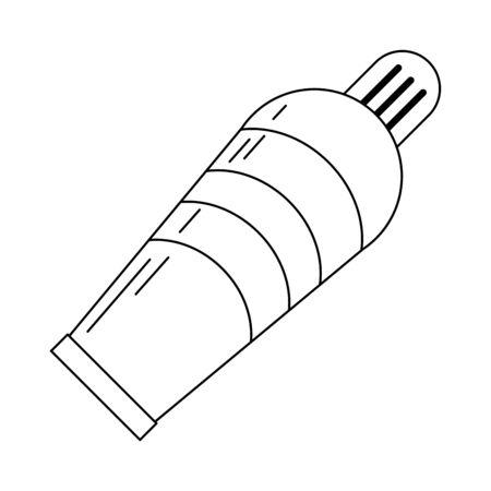oil paint bottle isolated vector illustration graphic design