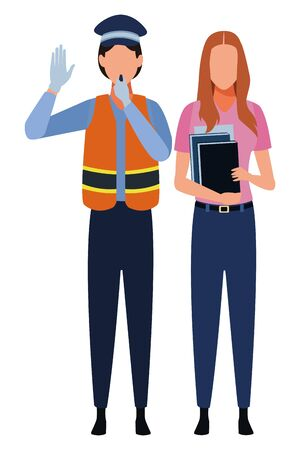 Jobs and professional workers vector illustration graphic design