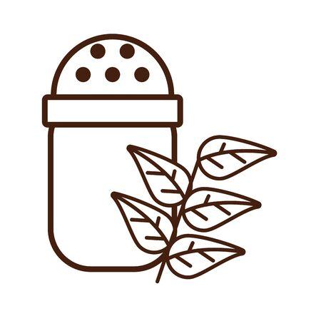 salt shaker utensil isolated icon vector illustration design Imagens - 134304039