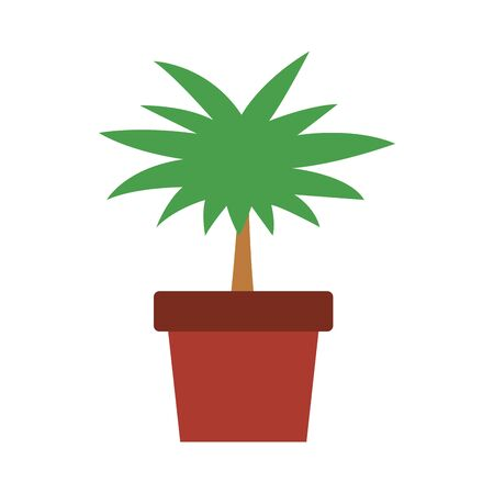plant in a pot icon over white background, vector illustration Stock fotó - 134320990