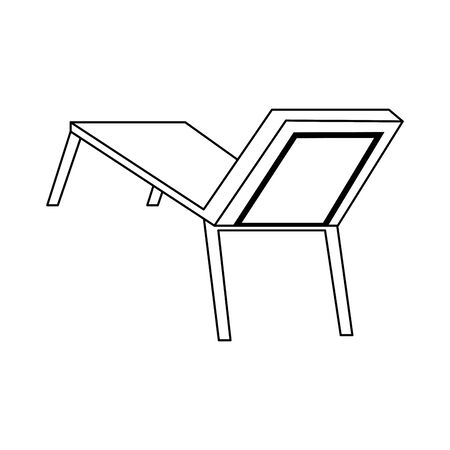 beach seat icon over white background, vector illustration