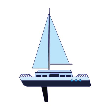 sail boat icon over white background, vector illustration Ilustracja